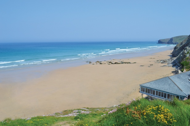 Jamie Oliver's Fifteen Cornwall overlooks Watergate Bay in North Cornwall.
